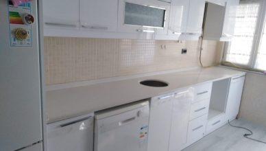 İstanbul Esenyurt Beyaz Olympos Çimstone Mutfak Tezgahı