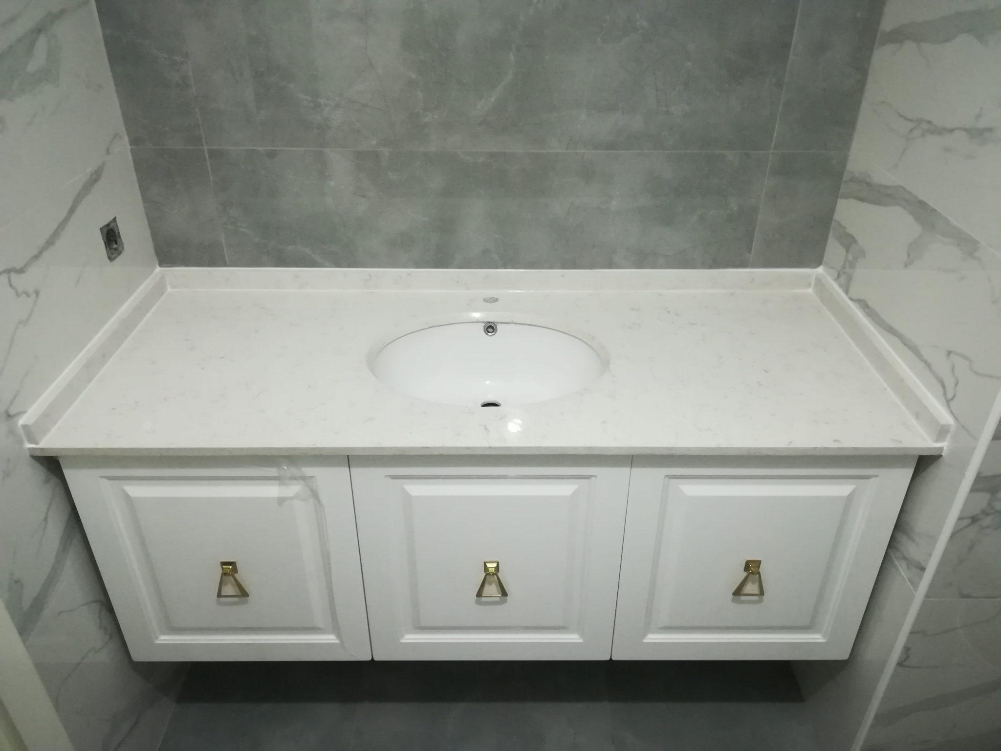Beylikdüzü Beyaz Olympos Banyo Tezgahı